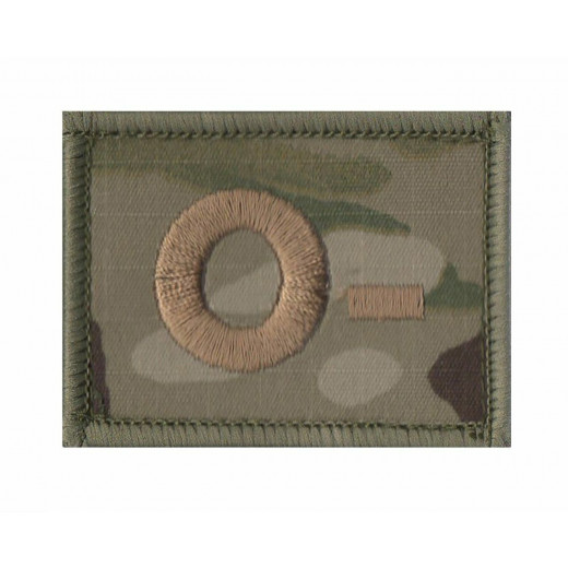 O- Blood Group Velcro Patch Multicam
