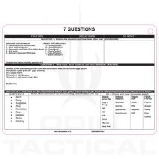 A6 Seven Questions Slate Card